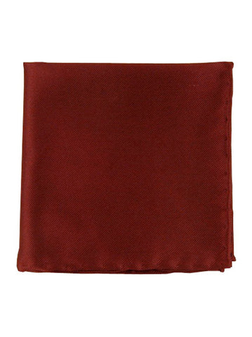 The Tie Bar Burgundy Solid Twill Pocket Square