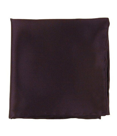 The Tie Bar Eggplant Solid Twill Pocket Square