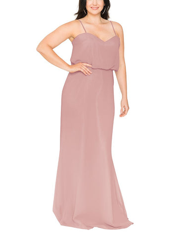 Brideside Penelope Bridesmaid Dress in Frose - Front