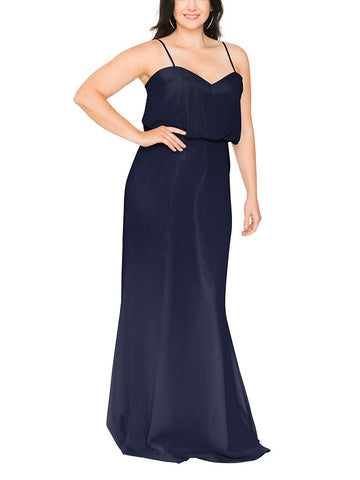 Brideside Penelope Bridesmaid Dress in Midnight - Front
