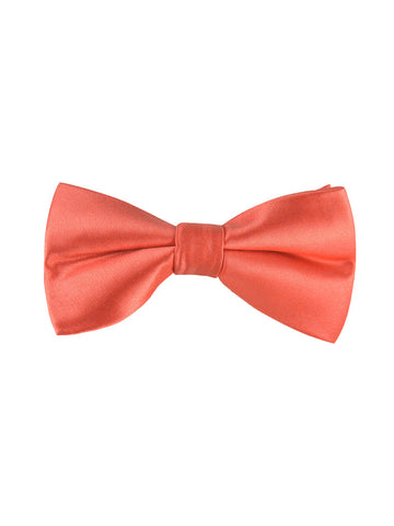 solid coral bow tie from the tie bar