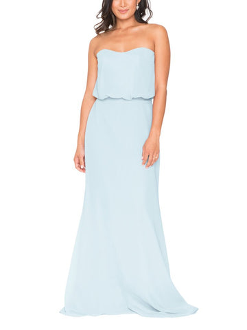 Brideside Salma Misty Blue Bridesmaid Dress - Front