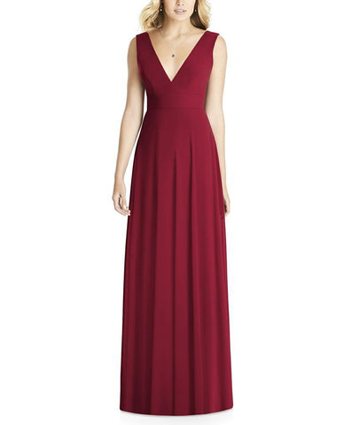 Social Bridesmaids Style 8185 in Burgundy - Front