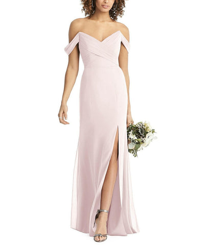 Social Bridesmaids Style 8193 in Blush - Front