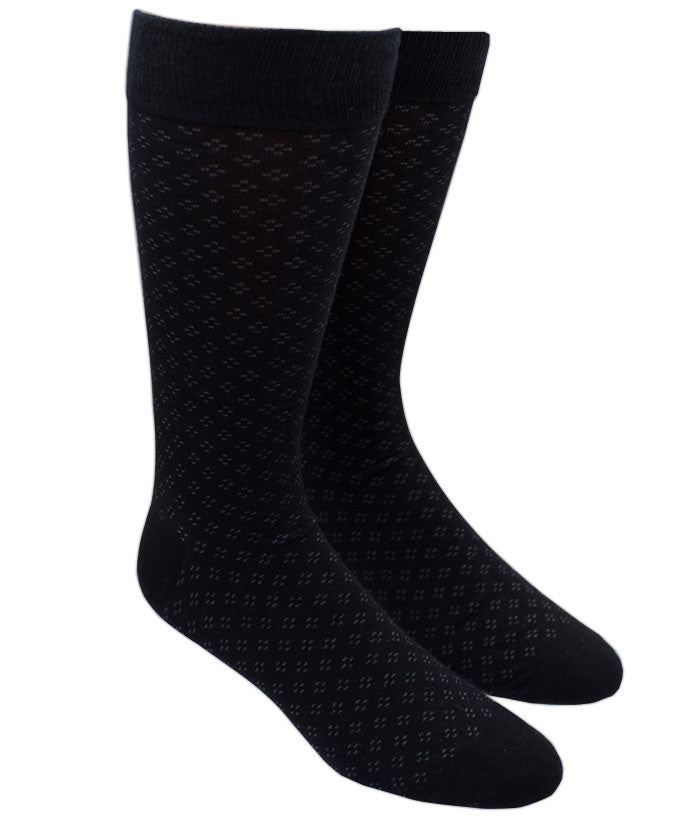 The Tie Bar Speckled Socks Black