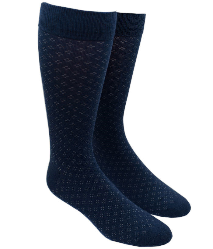 The Tie Bar Speckled Socks Navy