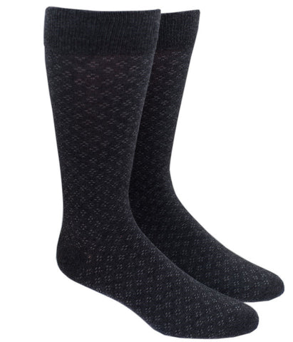 The Tie Bar Speckled Socks in Charcoal