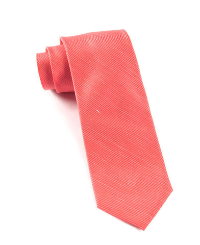 The Tie Bar Fountain Solid Coral Necktie