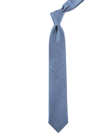The Tie Bar Fountain Solid Navy Necktie
