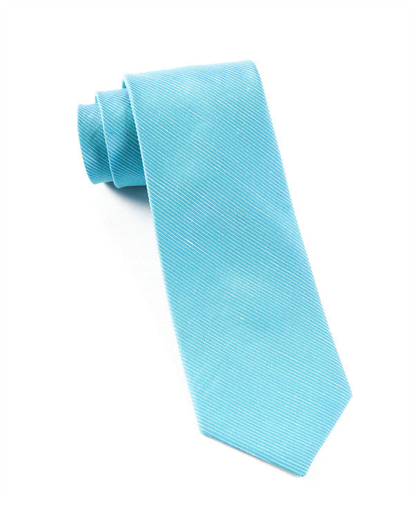 The Tie Bar Fountain Solid Ocean Blue Necktie