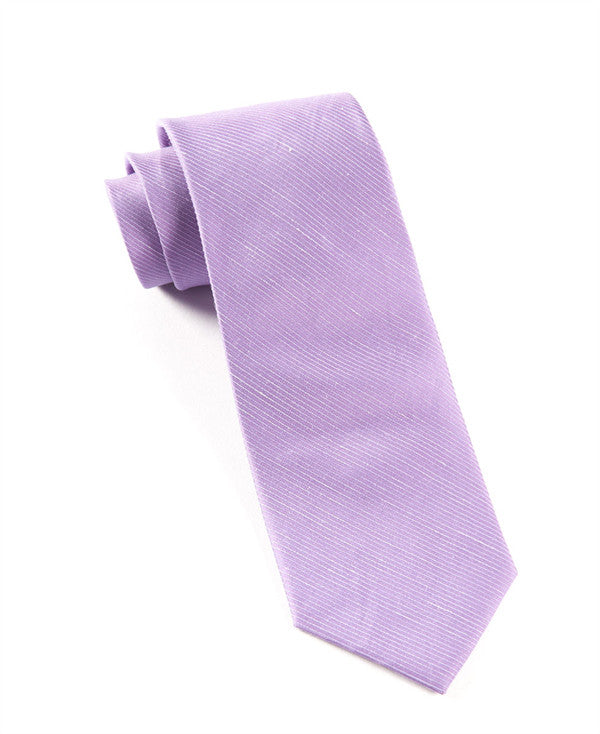 The Tie Bar Fountain Solid Wisteria Necktie