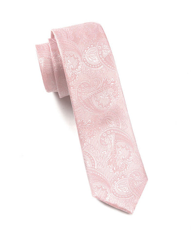 The Tie Bar Blush Paisley Necktie