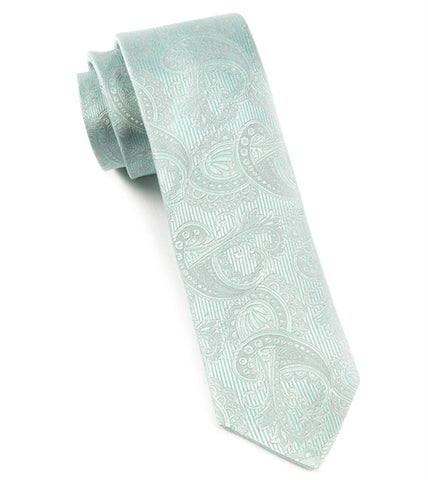 The Tie Bar Spearmint Paisley Necktie