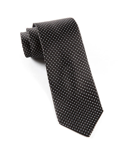 The Tie Bar Black Pindot Necktie