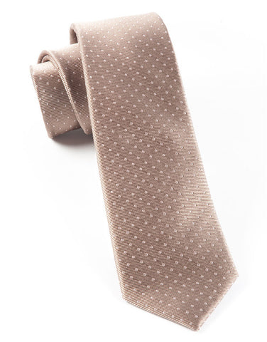 The Tie Bar Champagne Mini Dots Necktie