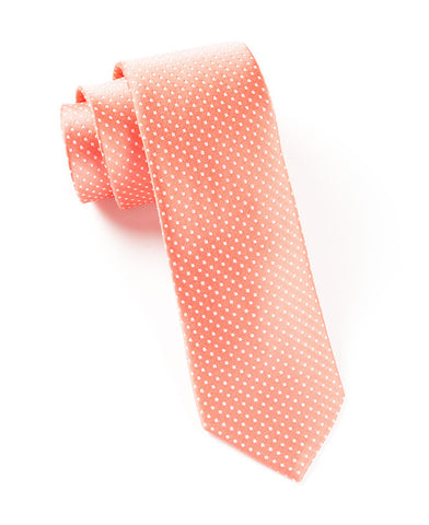 The Tie Bar Coral Pindot Necktie