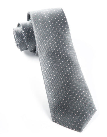 The Tie Bar Gray Mini Dots Necktie