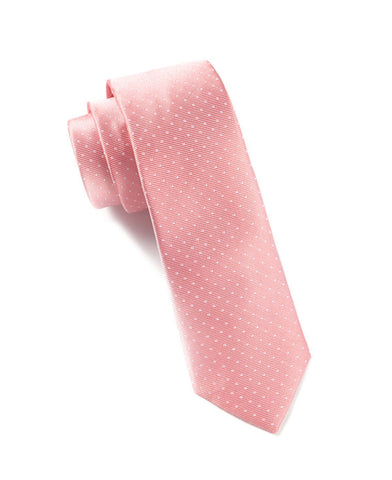 The Tie Bar Salmon Pindot Necktie