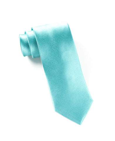 The Tie Bar Solid Aqua Necktie