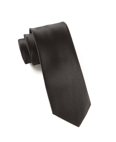 The Tie Bar Solid Black Necktie