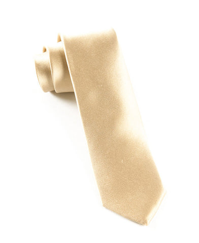 The Tie Bar Solid Champagne Necktie
