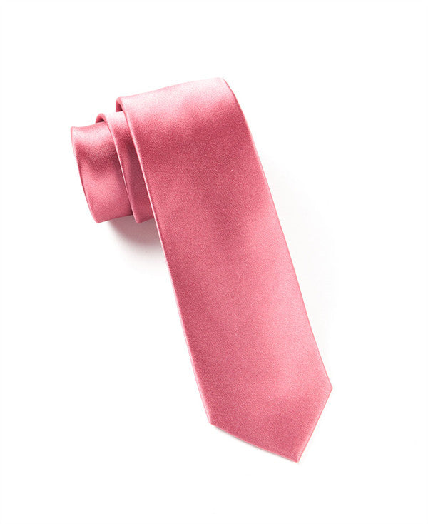 The Tie Bar Solid Dusty Rose Necktie