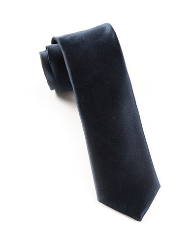 The Tie Bar Solid Navy Necktie