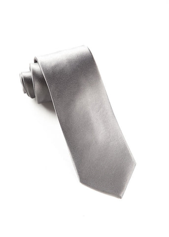 The Tie Bar Solid Silver Necktie