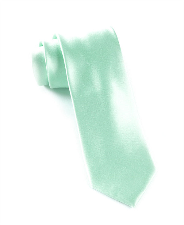 The Tie Bar Solid Spearmint Necktie