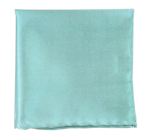 The Tie Bar Solid Twill  Aqua Pocket Square