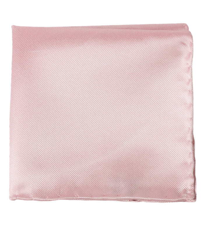 The Tie Bar Solid Twill Blush Pink Pocket Square