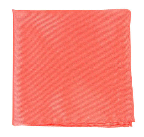The Tie Bar Solid Twill Coral Pocket Square