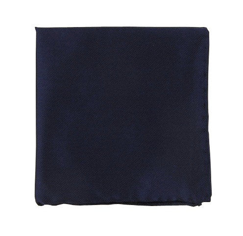 The Tie Bar Solid Twill Navy Pocket Square
