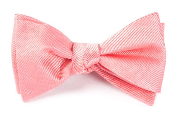 The Tie Bar Grosgrain Solid Spring Pink Bow Tie