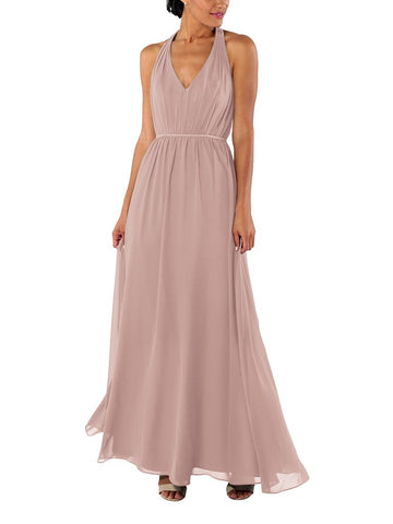 Brideside Veronica Bridesmaid Dress in Frose - Front