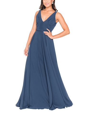 Brideside Viola Bridesmaid Dress in Lagoon - Front