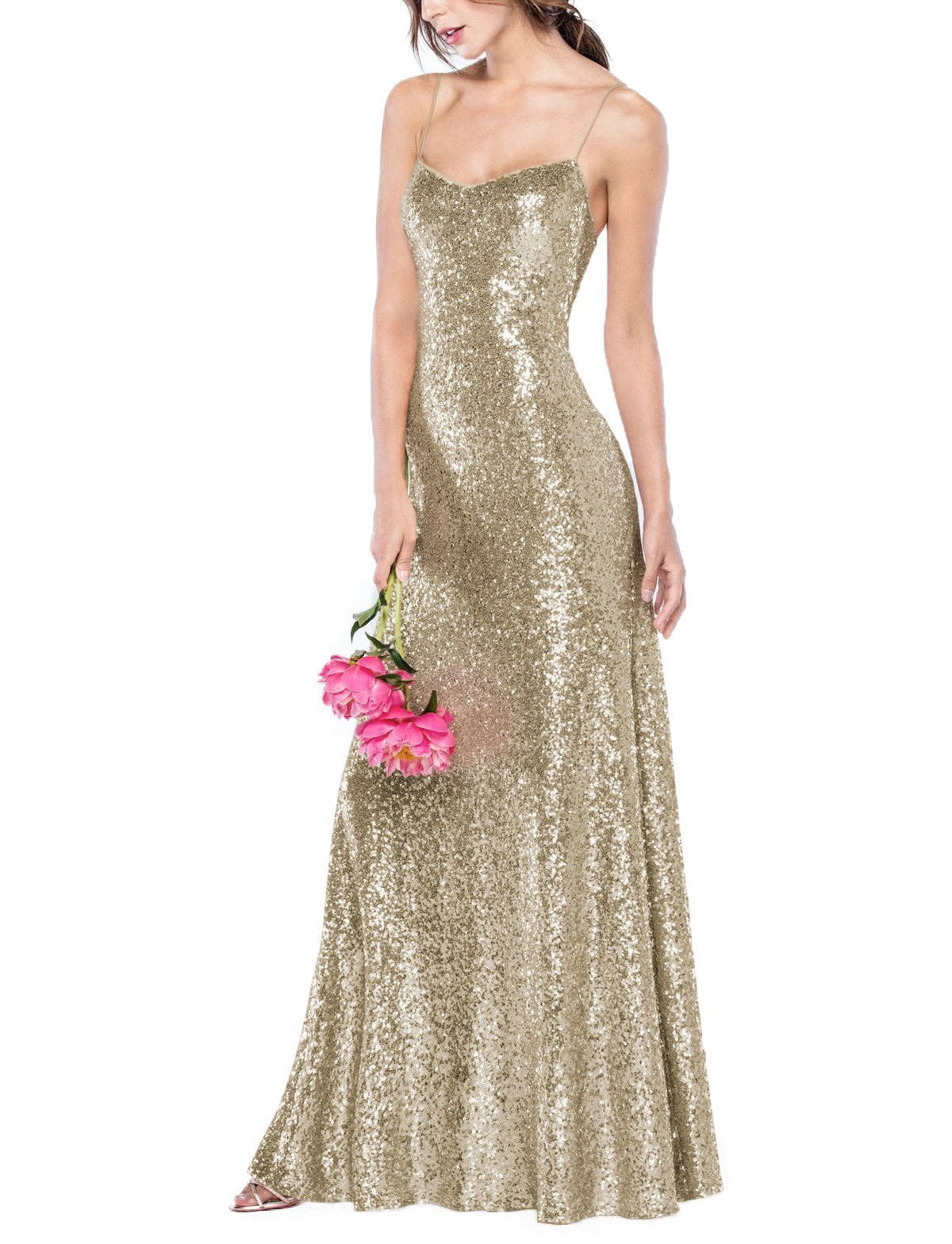 Watters Lucette in Soft Gold Sequin
