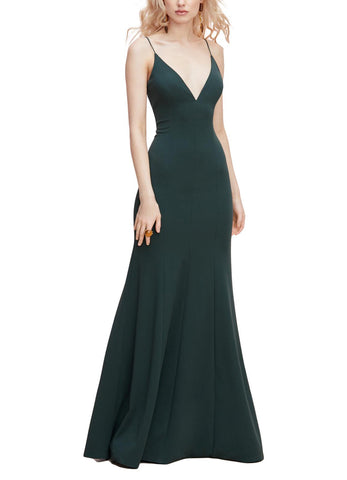 Watters Gazelle Bridesmaid Dress in - Evergreen - Front