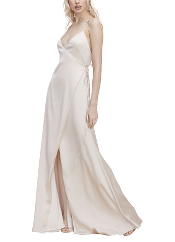 Watters Pearla Bridesmaid Dress in - Ballet Slipper - Front