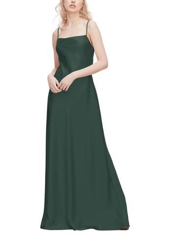 Watters Sonya Bridesmaid Dress in - Evergreen - Front
