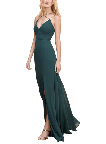 Wtoo by Watters Adalina Bridesmaid Dress in Evergreen - Front