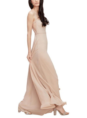 Wtoo by Watters Baker Bridesmaid Dress in Biscotti - Front