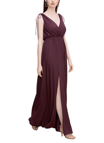 Wtoo by Watters Charlie Bridesmaid Dress in Wine - Front