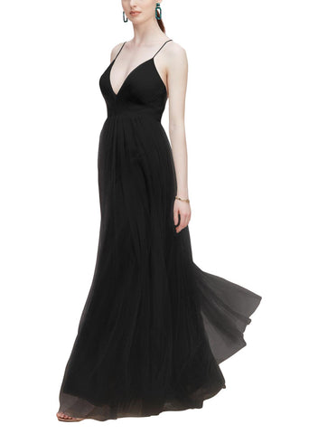 Wtoo by Watters Lexie Bridesmaid Dress in Black - Front