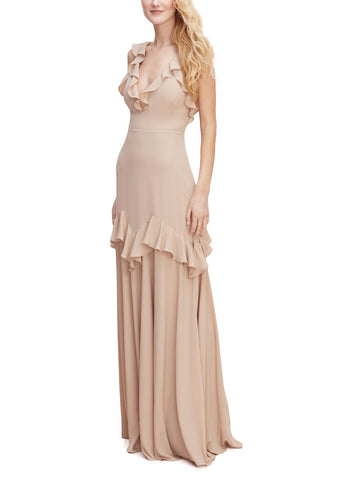 Wtoo by Watters Pheobe Bridesmaid Dress in Biscotti - Front