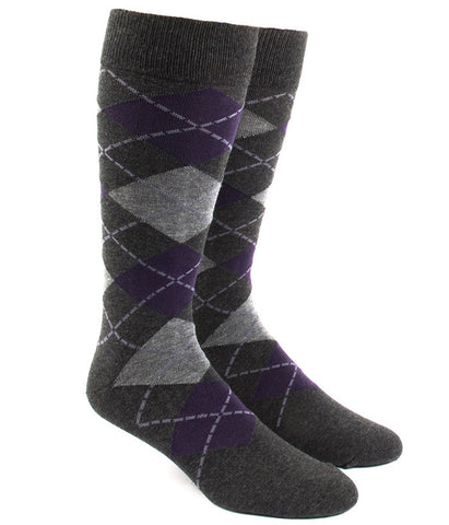 The Tie Bar Purple Argyle Socks