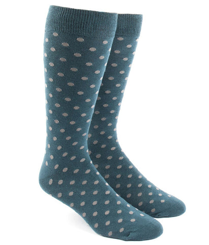 The Tie Bar Teal Circuit Dots Socks