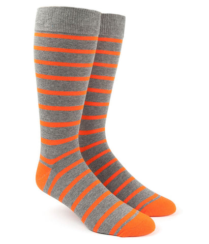 The Tie Bar Tangerine Trad Stripe Socks