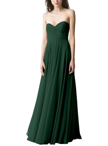 Jenny Yoo Adeline Bridesmaid Dress in Forrest - Front