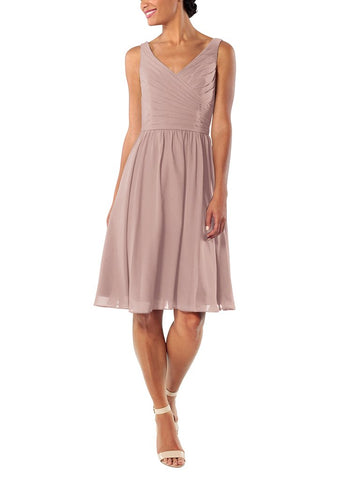 Brideside Blair Cocktail Bridesmaid Dress in Frose - Front